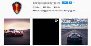 Koenigsegg Instagram