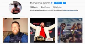 Connor McGregor Instagram