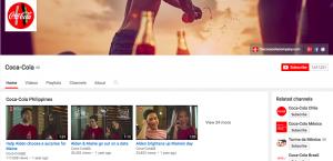 Coca-cola Youtube social media marketing