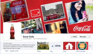 Coca-Cola Facebook account