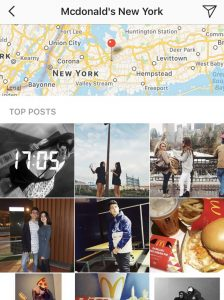 Instagram location service
