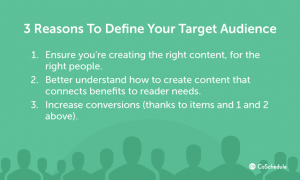 Reasons you should define your target audience