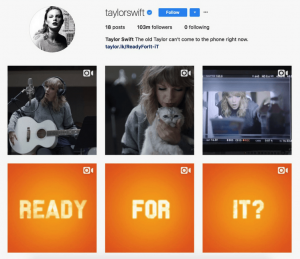 Taylor Swift instagram archives