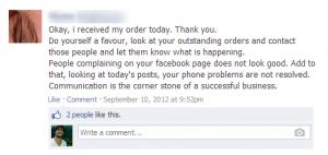 Customer service social media feedback