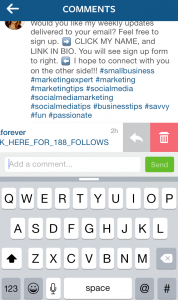Spam bot instagram