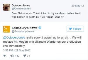 Funny response social media customer service