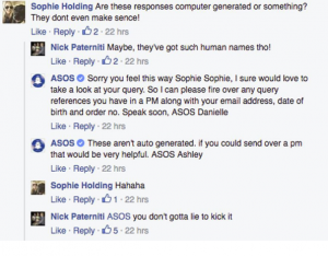 Chatbot social media fail asos