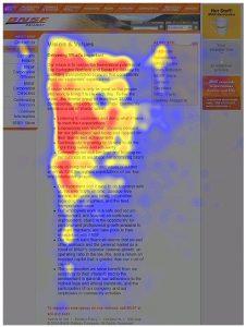 Website heatmap