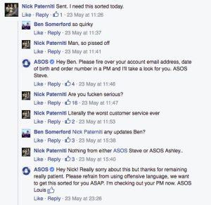 Social media chatbot fail