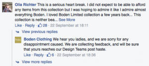 Social media customer feedback