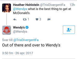 Wendy's social media customer service