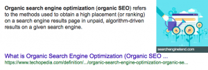 Organic seo meaning definition