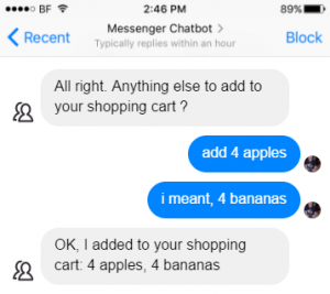Facebook chat bot