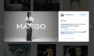 Influencer marketing ccampaign Kendall Jenner