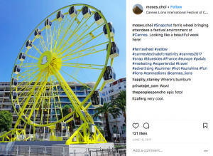 Snapchat Ferris wheel cannes
