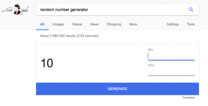 Random number generated social media contests