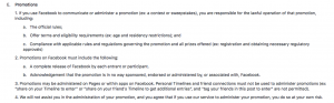 Facebook promotion guidelines