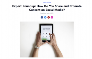 Expert roundup for more social shares