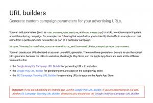 Google URL page builder