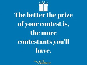 Arrange successful social media contests