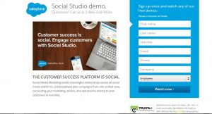 Landing page in marketing