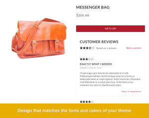 User-generated content checkout page