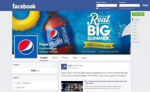 Pepsi facebook account