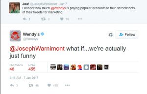 Wendy's social media marketing