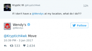 Wendy's brand personality social media