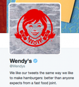Wendy's social media account