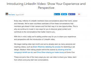 LinkedIn video