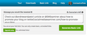 Twitter blog post promotion