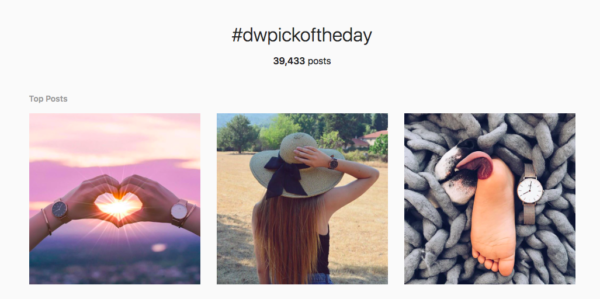 Instagram branded hashtag