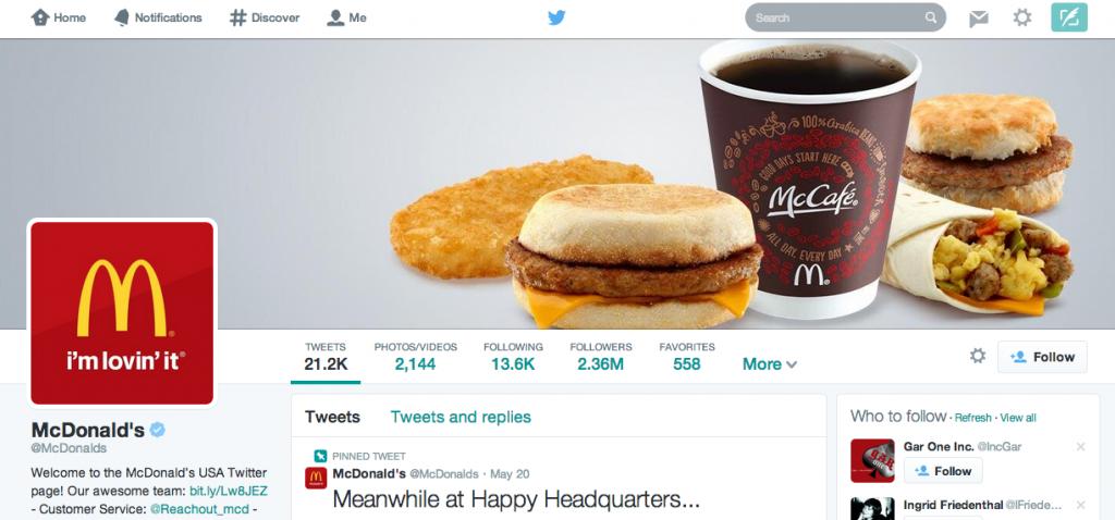 McDonald's social media