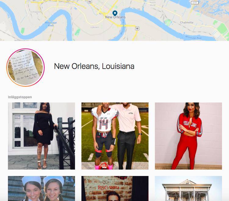 Instagram location checkin