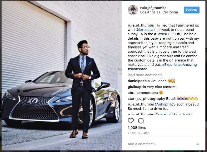 Influencer marketing Instagram