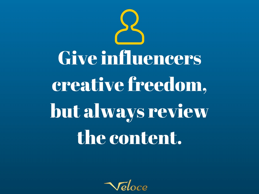 Influencer marketing creative freedom