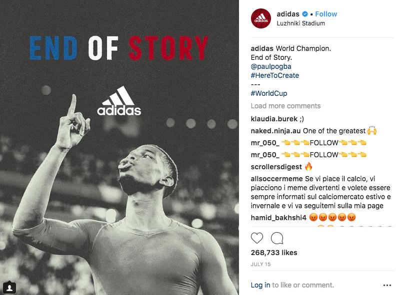 Adidas social media