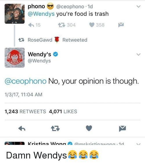 Wendy's social media